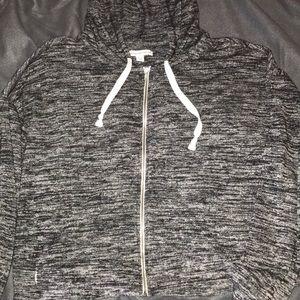 American Eagle cropped zip op hoodie!!